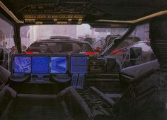 Syd Mead, Blade Runner concept art.
