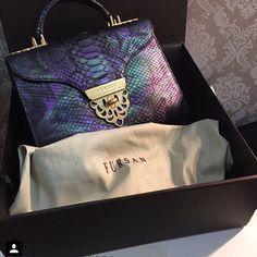 F U R S A N  Dazzah 32 Python in Peacock shades, ideal to lighten your closet in Autumn   #fursan #fursanhandbag #handbag #luxury #fashion #style #doha #qatar #dubai #kuwait #blogger #purse #purseblog #fashionblogger #قطر
