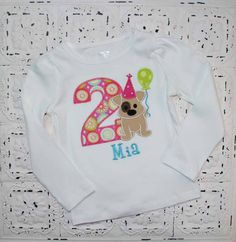Puppy Dog First Second Third Birthday Shirt Boys by bebeboutiques, $28.00