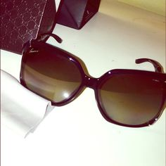 Gucci sunglasses This is like brand new, worn twice no scratches or anything wrong with it. Polarized lens, great condition, bought at nordstrom for over $400 after tax, you can go on nordstrom website and will find the same ones listed. Price is FIRM!! , not willing to negotiate over price. Trade value is $360 Gucci Accessories Sunglasses