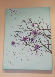 Handmade Acrylic Flowers Painting with 3D polymer clay elements