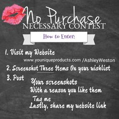 No Purchase Necessary Mascara Giveaway Contest Youni1ue by @littlemissbossbabe