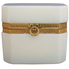 Charming French Opaline Glass Box 1940's