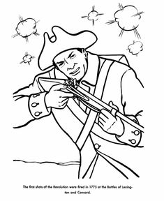 Beautiful American Girl Coloring Pages 57 The Shot Heard Round