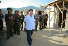 Kim Jong Un Tours Flood Recovery Work in Raso'n (21-09-15)