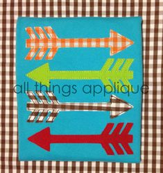 Stacked Arrows Applique Design  4 Sizes  by allthingsapplique