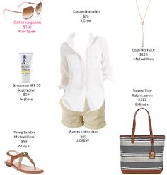 I love everything about this outfit for summer. Especially love the bag.