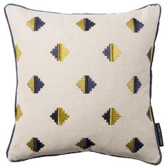 Pizarro Aztec Indigo Square Cushion