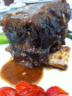 Asian Braised Beef Short Ribs with Garlic Lemon Jasmine Rice