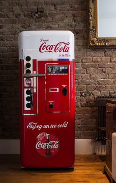 Coca Cola Vintage Vending Machine Fridge Wrap