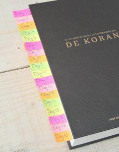 Schema   Koran in 30 dagen uitlezen   Ramadanrecepten.nl Ramadan Quran, Book Flowers, 30th, Islam, Religion, Sayings, Om, Books, Livros
