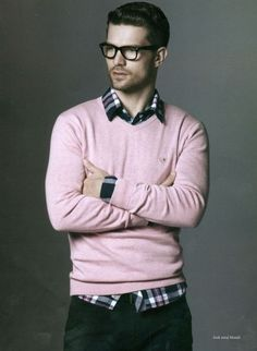 F/W - Pink Sweater and Plaid Shirt love it!