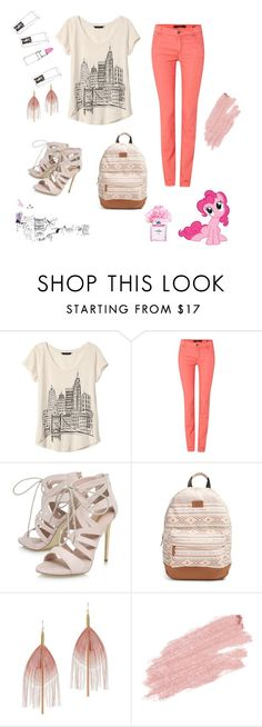 """""""Pinky ♥"""" by ajla55 ❤ liked on Polyvore featuring Banana Republic, Oui, Carvela, Rip Curl, Serefina, Jane Iredale, My Little Pony, Chanel, Karlsson and Børn"""