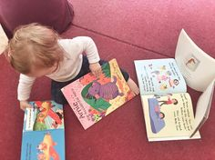 Difficult choices when you are a baby  . . . . . . #readingtime #babyreading #babybooks #babytiful #babystyle #montessori #babylove #lovereading