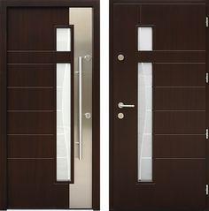 Drzwi wejściowe z kolekcji INOX model 437,1-437,11+ds3 produkcji AFB-Kraków