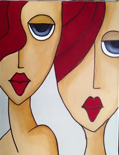 "Arte - oleo canvas 30x40 en venta ""Hermanas"""