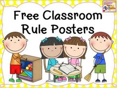 Classroom Rules: Classroom Rules - Free: Introduce rules in your classroom in a positive way with these free classroom rule posters. It includes eight rules which stand alone as individual posters and it also has a poster with all of the rules on it. Every poster has pictures of students.