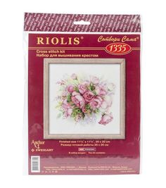 """Watercolor Roses Counted Cross Stitch Kit-11.75""""X11.75"""" 14 Count"""