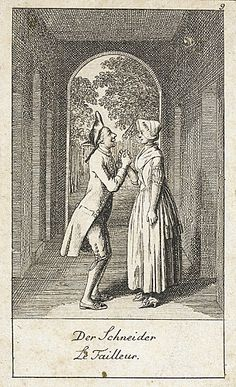 Daniel Nikolaus Chodowiecki (Germany, Danzig, 1726 - 1801)  Illustration for 'Wedding Proposals', 1780  Print, Etching, Sheet: 3 1/2 x 2 in. (8.89 x 5.08 cm)  Gift of Mr. and Mrs. Stanley Talpis (55.102.215)  Prints and Drawings Department.