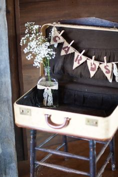 Jeff + Kim - Cards Suitcase - Rustic Wedding