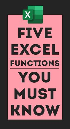 Five Functions You MUST Know - All the Interesting Information You're Wondering Here Computer Help, Computer Programming, Computer Tips, Basics Of Computer, Tableau Software, Microsoft Excel Formulas, Excel For Beginners, Excel Hacks, Computer Shortcut Keys