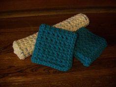 crochet washcloth aka dishcloth, rag gift set a beginner crochet project easy and quick