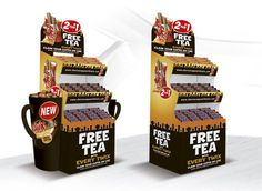 FSDU (Free Standing Display Unit) designs for twix instore promotions. Extra fill 'Cups' on either side of the display means it can hold even more items.     *** Design, print and build by The Printed Image in Ireland. ***