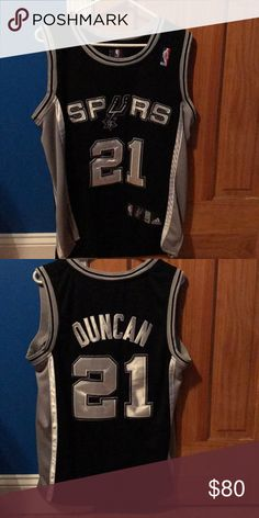21 Tim Duncan Jersey Worn twice. Good condition. adidas Other Black Adidas 6ed38f10c