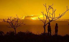 Nascer do sol na Praia Ponta do Mel em Areia Branca (RN), Brasil