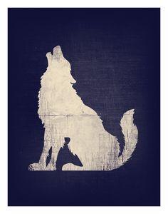 wolf silhouette tattoo idea