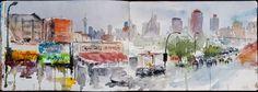 Urban Sketchers: Fordsburg in the rain