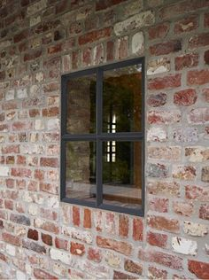 Kleines Fenster in Ziegelarbeiten The Effective Pictures We Offer You About home accents decorative A quality picture can tell you many things. Iron Windows, Steel Windows, Steel Doors, Windows And Doors, Belgian Style, Aluminium Windows, Brick And Stone, Window Frames, Brick Wall