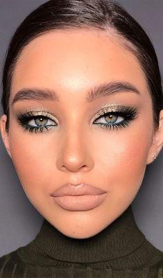 Glam Makeup Look, Makeup Eye Looks, Smokey Eye Makeup, Cute Makeup, Pretty Makeup, Skin Makeup, Party Makeup Looks, Eyeshadow Makeup, Makeup Trends