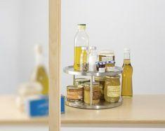 WENKO Schrankrondell DUO - Edelstahl rostfrei New Kitchen, Kitchen Stuff, Bathroom Medicine Cabinet, Cleaning Supplies, Decoration, Furniture, Home Decor, Ranger, Amazon