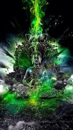Buddha ♡)̲̅ζø̸√̸£.¸ Buddha Art Buddha, Buddha Painting, Buddha Buddhism, Buddha Quote, Psychedelic Art, Mandala Chakra, Buda Wallpaper, Buddha Sculpture, Buddha Tattoos