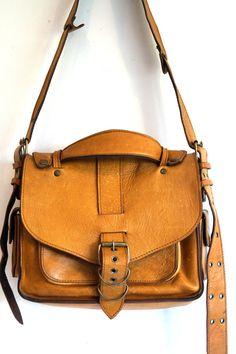 Genuine leather handbag SCHOULDER bag CROSSBODY by vintagdesign