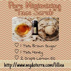 Pore minimizing Scrub