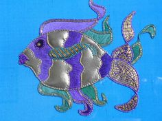 Goldwork and Silk Shaded Fish