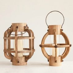 Unique Wooden Candle Lanterns