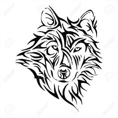 tribal wolf head - Google Search