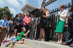 Advocates spoke at the State House in July 2016, after the transgender rights law was signed.