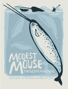 modest mouse concert poster canada - Google Search
