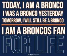 #4everFan Denver Broncos Football, Go Broncos, Broncos Fans, Best Football Team, Football Memes, Broncos Memes, Cowboys Memes, Broncos Gear, Football Baby