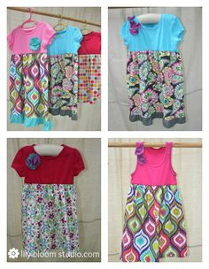 Tutorial to make cute summer dress for little girls or adjust the tutorial to make a super cute maxi dress for yourself!