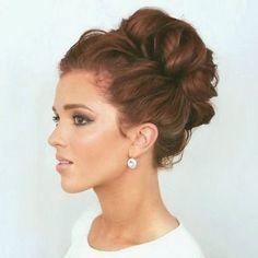 Remarkable High Bun High Bun Hairstyles And High Bun Wedding On Pinterest Hairstyle Inspiration Daily Dogsangcom