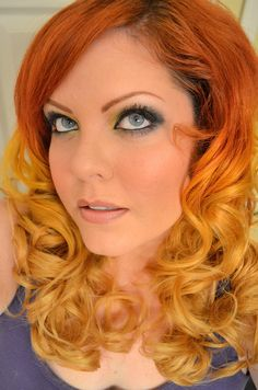 My DIY Ombre Red/Orange/Yellow hair Tutorial #ombre #hair