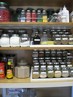 There is no way I'd ever be as organised as this. Especially in the *dreaded* spice cabinet.