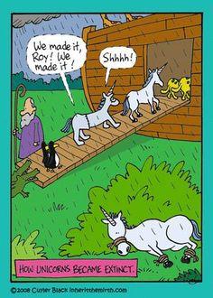 How unicorns became extinct