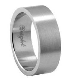 Men's Stainless Steel Wedding Ring with Flat Face and Brushed Finish | 7.2mm