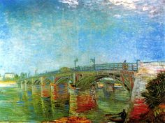 The Seine Bridge at Asnieres - Vincent van Gogh